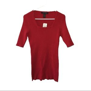 NWT Ashley Stewart Thick Red Ribbed Shirt 10/12